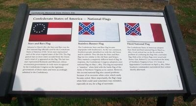 Confederate States of America - National Flags Marker image. Click for full size.