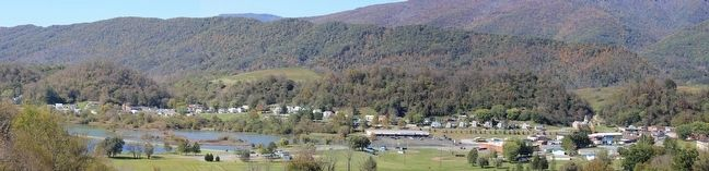 View of Saltville from the Saltville Overlook on Route 107 image. Click for full size.