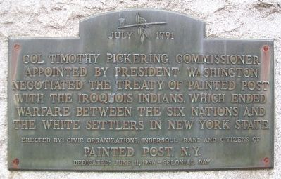 Treaty of Painted Post Marker image. Click for full size.