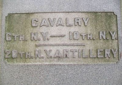 Civil War Memorial Cavalry - Artillery Honor Roll image. Click for full size.