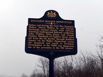 Benjamin Walker Homestead Marker image. Click for full size.