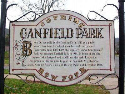 Canfield Park Marker image. Click for full size.