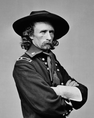 Brig. General George A. Custer (1839-1876)<br>Commander 2nd Brigade, 3rd Division image. Click for full size.
