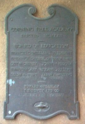 Corning Free Academy Construction Marker image. Click for full size.