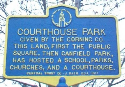 Courthouse Park Marker image. Click for full size.