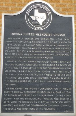 Bovina United Methodist Church Marker image. Click for full size.