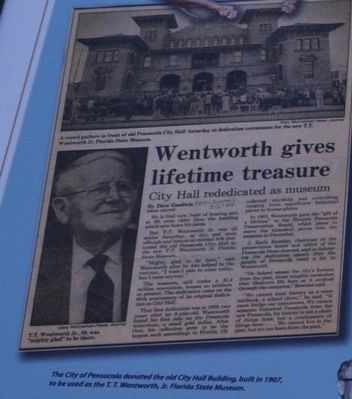 Wentworth gives lifetime treasure image. Click for full size.