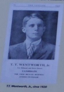 T. T. Wentworth, Jr. circa 1920 image. Click for full size.