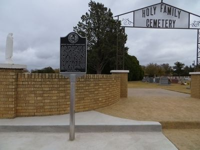 Holy Family Cemetery Marker image. Click for full size.