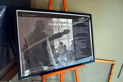 Once a Teacher, Always a Teacher<br>Interpretive Sign image. Click for full size.