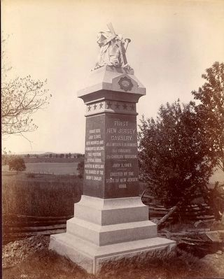 First New Jersey Cavalry Monument<br>Historical Photograph image. Click for full size.