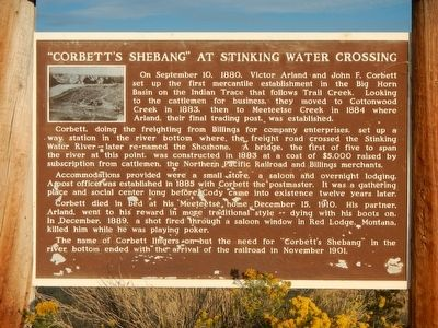 """Corbett's Shebang"" at Sinking Water Crossing Marker image. Click for full size."