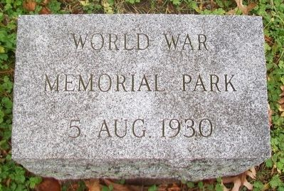 World War Memorial Park Marker image. Click for full size.