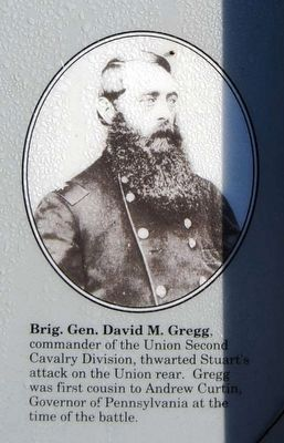 Brig. Gen. David M. Gregg<br>Commander 2nd U.S. Cavalry Division image. Click for full size.