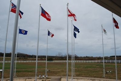 Mississippi's Final Stands Interpretive Center Flags image. Click for full size.