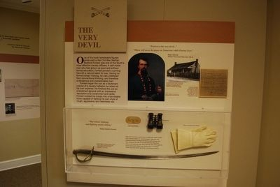 Mississippi's Final Stands Interpretive Center -Nathan Bedford Forrest Display image. Click for full size.