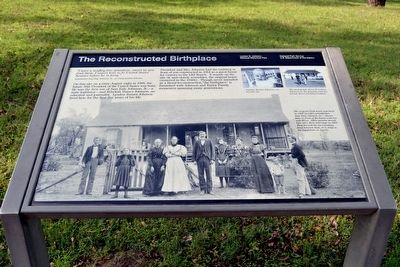 The Reconstructed Birthplace Marker image. Click for full size.