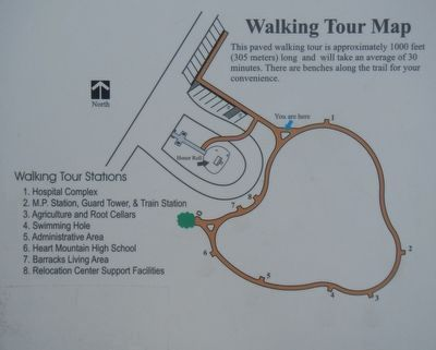 Map of the Setsuko Saito Higuchi Memorial Walking Tour image. Click for full size.