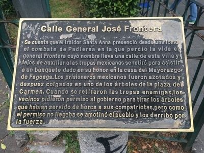 General José Frontera Marker image. Click for full size.