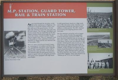 M.P. Station, Guard Tower, Rail & Train Station Marker image. Click for full size.