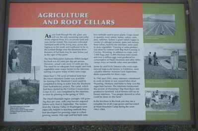 Agriculture and Root Cellars Marker image. Click for full size.