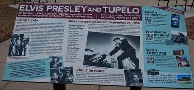 Elvis Presley and Tupelo Marker image. Click for full size.