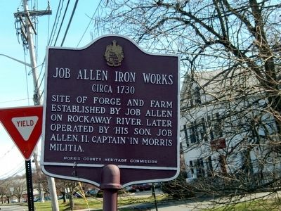 Job Allen Iron Works Marker image. Click for full size.