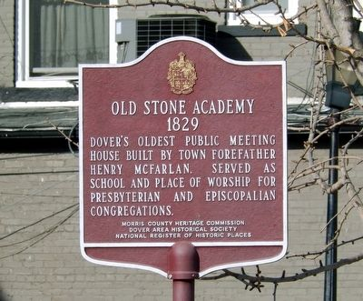 Old Stone Academy Marker image. Click for full size.