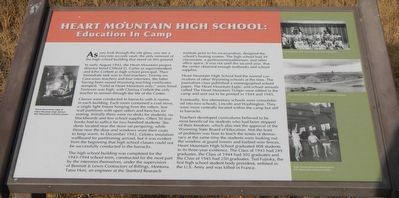 Heart Mountain High School: Marker image. Click for full size.