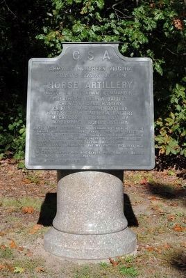 Horse Artillery Marker image. Click for full size.