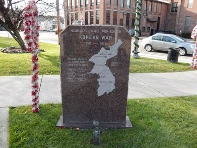 Park Place Veterans Park Marker-Korean War image. Click for full size.