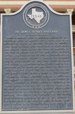 Dr. James Henry Wayland Marker image. Click for full size.