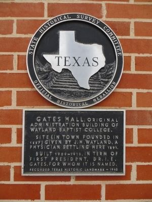 Gates Hall Marker image. Click for full size.