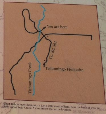 Chief Tishomingo Marker Map image. Click for full size.