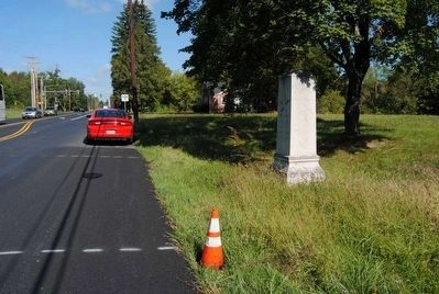 10th Maine Battalion Marker<br>Looking Toward the Gettysburg Visitors Center Entrance image. Click for full size.