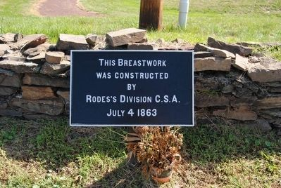 This Breastwork Marker image. Click for full size.