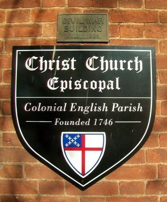 Christ Church Episcopal Marker image. Click for full size.