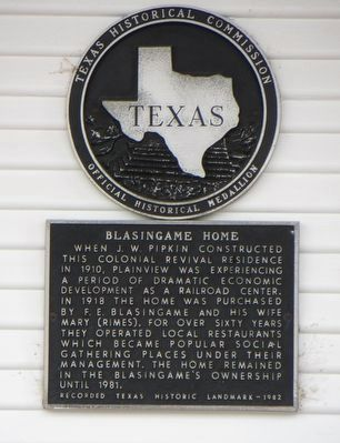 Blasingame Home Marker image. Click for full size.