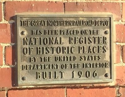 The Great Northern Railroad Depot Marker image. Click for full size.
