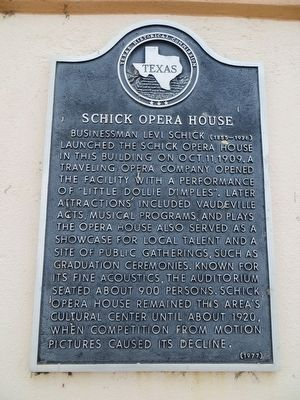 Schick Opera House Marker image. Click for full size.