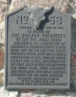 The Mormon Colonists Marker image. Click for full size.