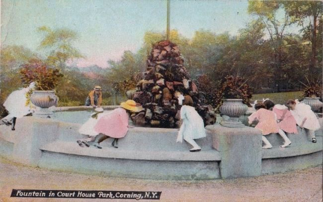 <i>Fountain in Court House Park, Corning, N.Y.</i> image. Click for full size.