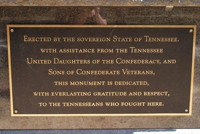 Tennessee Monument Marker- Right image. Click for full size.
