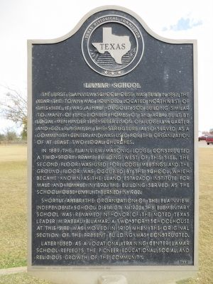Lamar School Marker image. Click for full size.