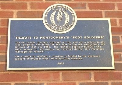 "Tribute to Montgomery's ""Foot Soldiers"" Marker image. Click for full size."
