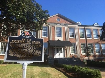 Marker in front of William Hooper Councill Hall image. Click for full size.