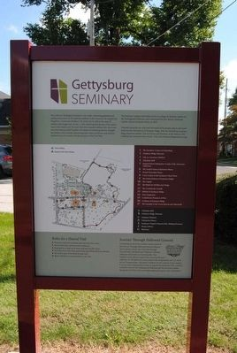 Gettysburg Seminary Marker image. Click for full size.