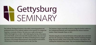 Gettysburg Seminary Marker<br>Main Text image. Click for full size.