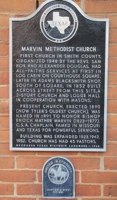 Marvin Methodist Church Marker image. Click for full size.