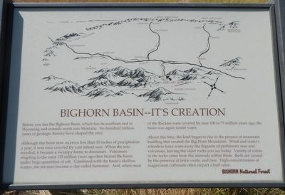 Bighorn Basin -- It's Creation Marker image. Click for full size.